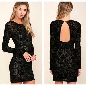 Lulus Cor-set to Go Burnout Velvet Mini Dress NWT